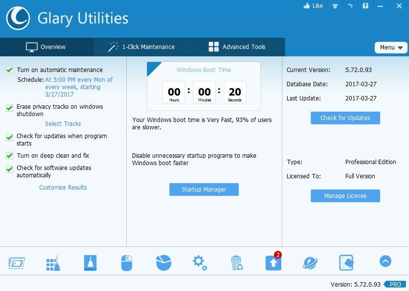 Glary Utilities Pro Crack1