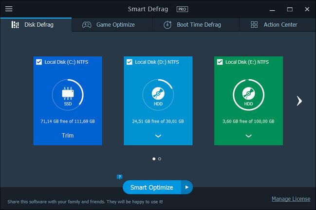 IObit Smart Defrag Pro Crack1