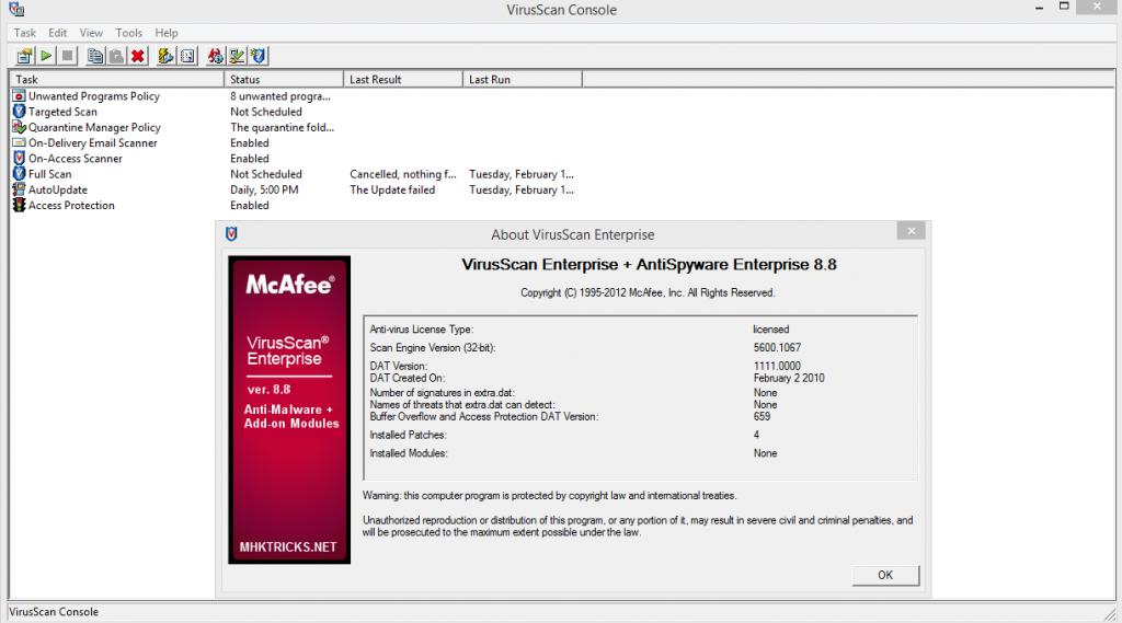 McAfee VirusScan Enterprise Crack1